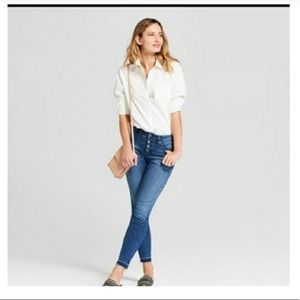 Universal Thread button-fly skinny jeans
